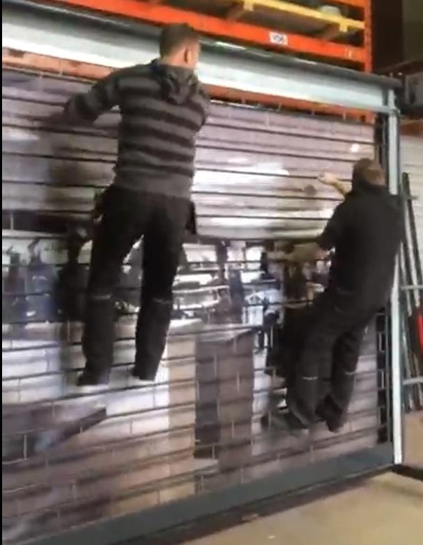 Stackdoor hufterproof beveiligingshek rolluik rolhek vandalismebestendig